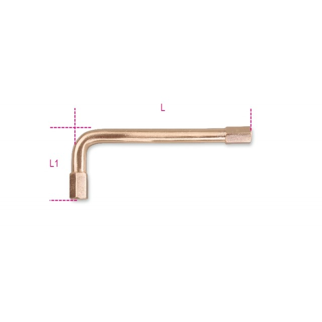 Sechskant-Stiftschlüssel, gebogen, funkenfrei - Beta 96BAF-AS