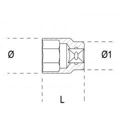 Chave de caixa bisextavada anti-faísca - Beta 921BA