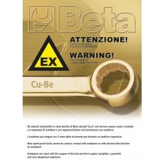 Pinza a becchi mezzotondi lunghissimi diritti zigrinati antiscintilla - Beta 1166BA