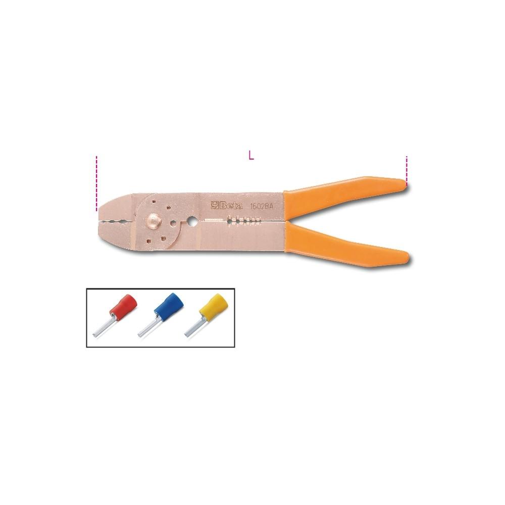 Pinza per capicorda preisolati modello leggero, antiscintilla - Beta 1602BA