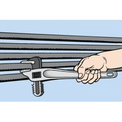 Giratubi modello frontale con corpo in lega leggera e ganasce in acciaio forgiato - Beta 365