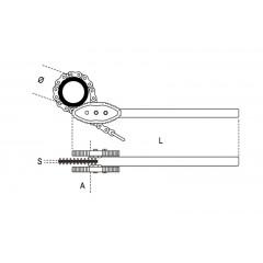 Giratubi reversibili a catena modello pesante - Beta 386A