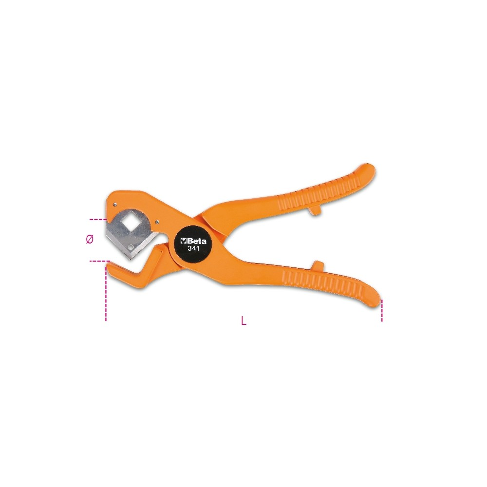 Pipe cutting pliers for plastic pipes - Beta 341