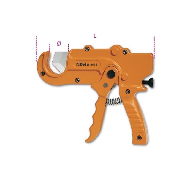 Ratchet-type shears for plastic pipes - Beta 341B