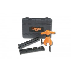 Tube flaring tool with clutch, for copper and light alloy pipes in plastic case - Beta 349