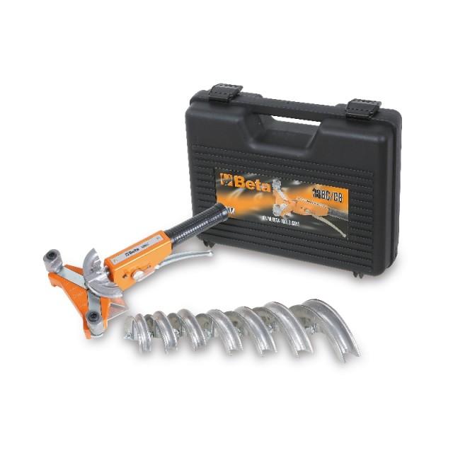 Attrezzo curvatubi con 7 matrici in alluminio per rame ricotto e lega leggera in cassetta di plastica - Beta 388C/C8