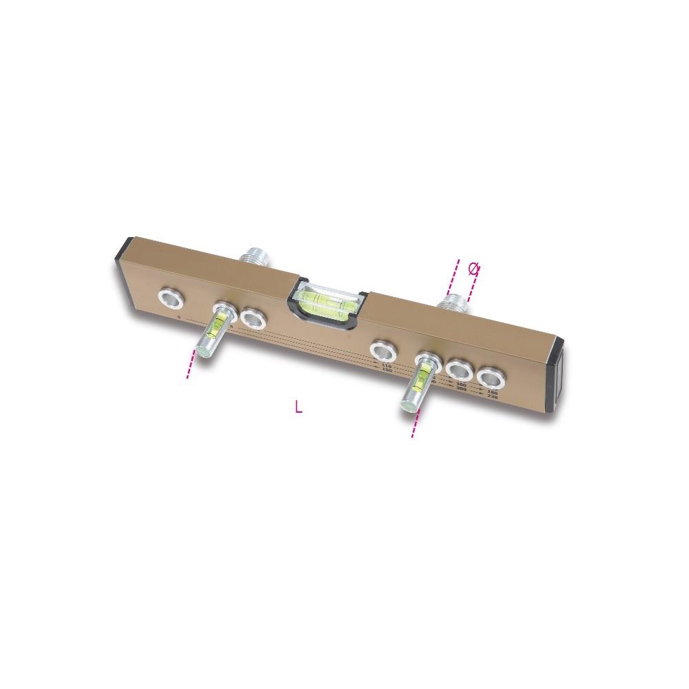 Vízmérték 3 libellával csapok beállításához - Beta 357F3
