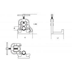 Morse ribaltabili da banco verniciate - Beta 399