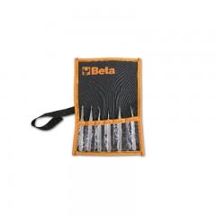 Set of 6 spring tweezers, acid and magnetic resistant - Beta 999/B6