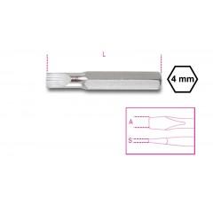Inserti 4 mm per viti a testa con intaglio - Beta 1256LP
