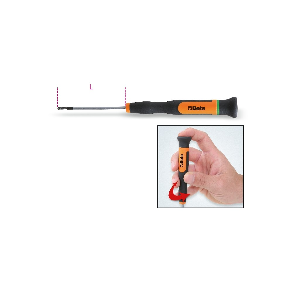 Micro-screwdrivers for cross-head Phillips® screws - Beta 1257PH