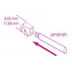 Pinza a cricchetto per capicorda telefonia e trasmissione dati - Beta 1601/PC