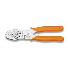 Saruzófogó nem szigetelt kábelsarukhoz, nyitott modell, standard modell, krómozott, műanyag szárral - Beta 1603B