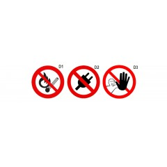 Prohibition signs - Beta 7109D