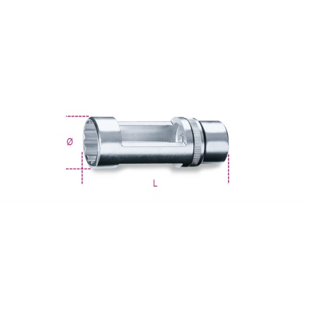 """1/2"""" square drive socket  for Diesel engine injectors - Beta 960S"""