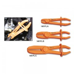 Serie di 3 pinze in plastica per occlusione tubi e manicotti (art. 1481PL/A, 1481PL/B, 1481PL/C) - Beta 1481PL/S3
