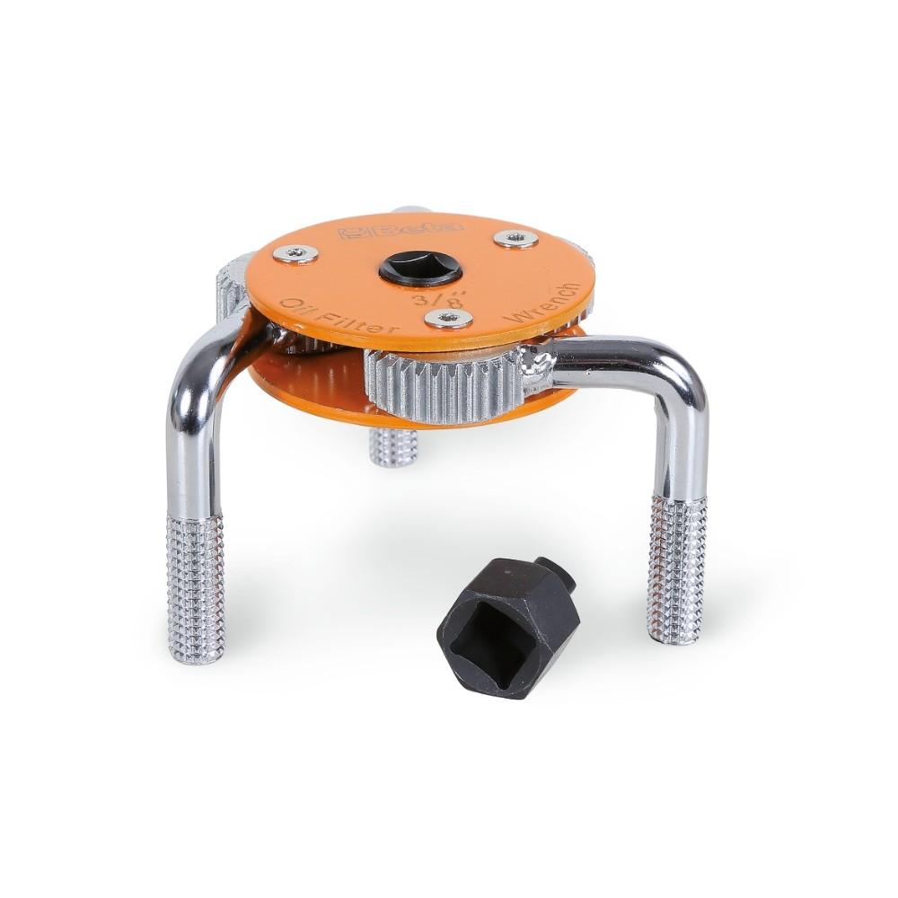 Chiave autoregolabile a tre bracci per filtri olio destrorsa-sinistrorsa - Beta 1493H