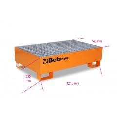 Base in acciaio per movimentazione e stoccaggio di 2 fusti da 200 l - Beta 1889
