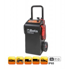 Caricabatterie avviatore multifunzione 12-24V carrellato - Beta 1498/40A