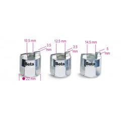 Serie di 3 chiavi per ghiere ammortizzatori - Beta 1557/S3