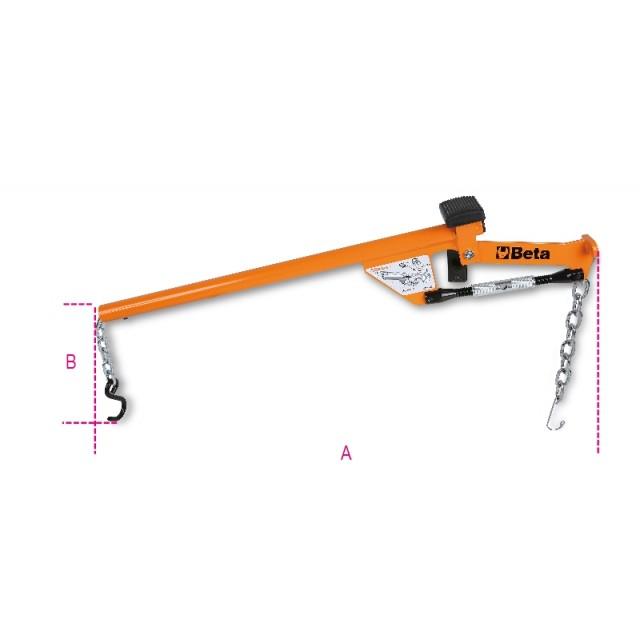 Leva per estrazione testine braccio oscillante e ammortizzatori dal montante - Beta 1567