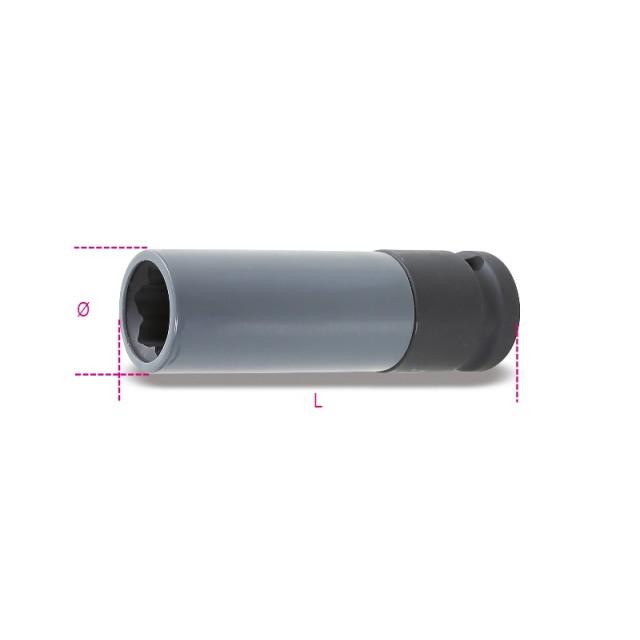 Gépi dugókulcs polimer betéttel Mercedes kerékanya profilhoz - Beta 720MRC