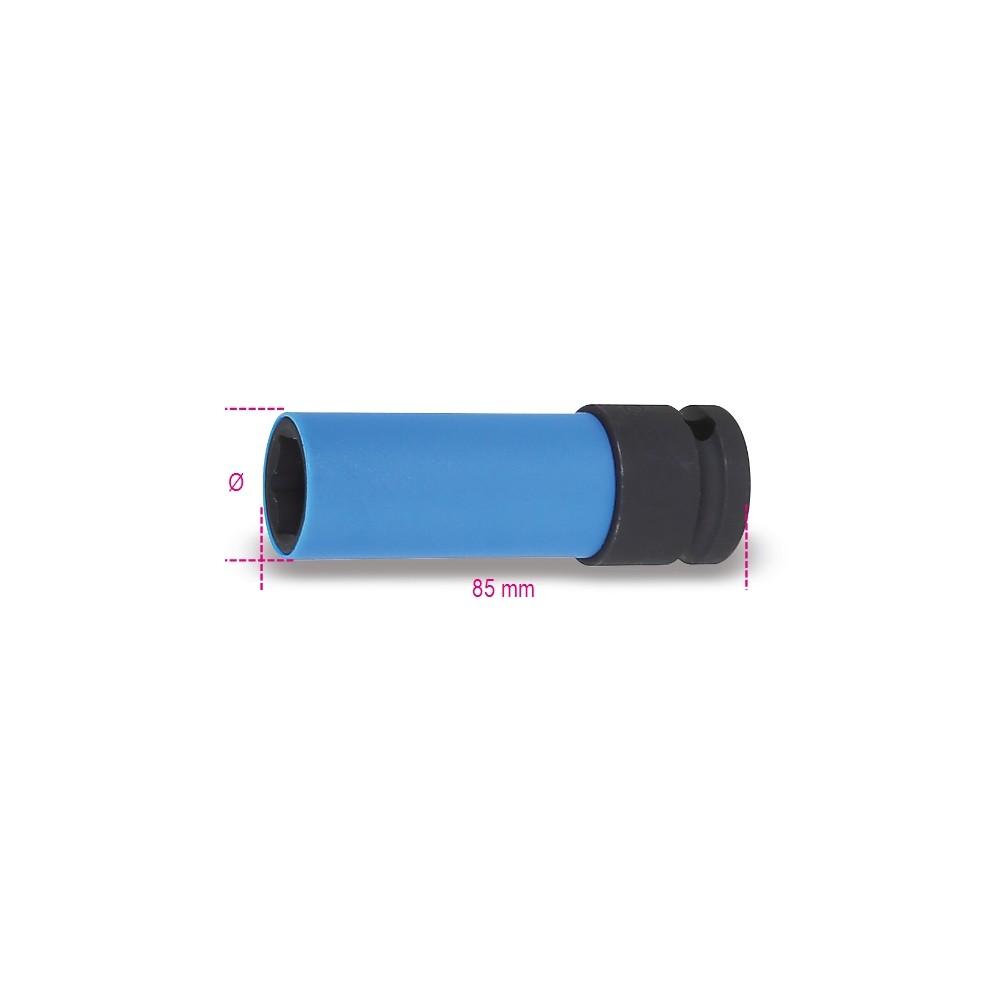 Douilles à chocs gainées pour écrous de roues en alliage léger - Beta 720LC