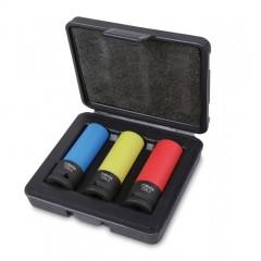 3 chiavi a bussola Macchina per dadi ruote con inserti polimerici colorati - Beta 720LC/C3
