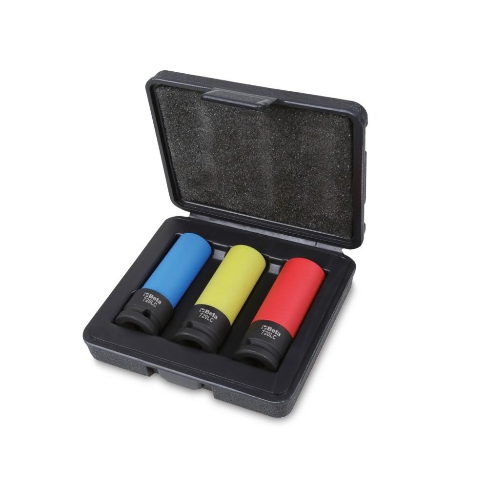 3 lange slagdoppen voor wielbouten, met polymeer beschermhulzen - Beta 720LC/C3
