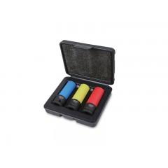 3 darabos gépi dugókulcs készlet kerékanyákhoz színes polimer betétekkel - Beta 720LC/C3