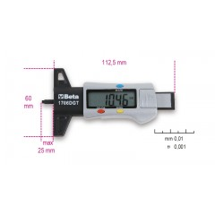Calibro di profondità digitale per battistrada pneumatici - Beta 1706DGT