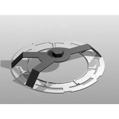 Chiave a 3 zampe per ghiere galleggianti serbatoio con ghiera in alluminio - Beta 1482A/1