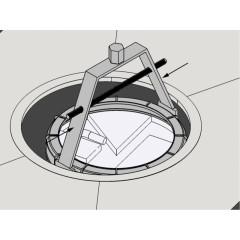 Chiave per ghiere galleggianti serbatoio gruppo PSA - Beta 1482A/3