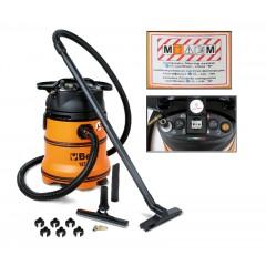 """Aspiratore 35 litri per solidi e liquidi con prese di servio corrente ed aria compressa classe certificata """"M"""" - Beta 1871M"""
