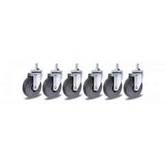 6 ruote di ricambio per lettino sottomacchina. 3002 - Beta 3002/RLS