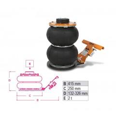 Sollevatore pneumatico 2 t - 2 stadi - Beta 3061/2T