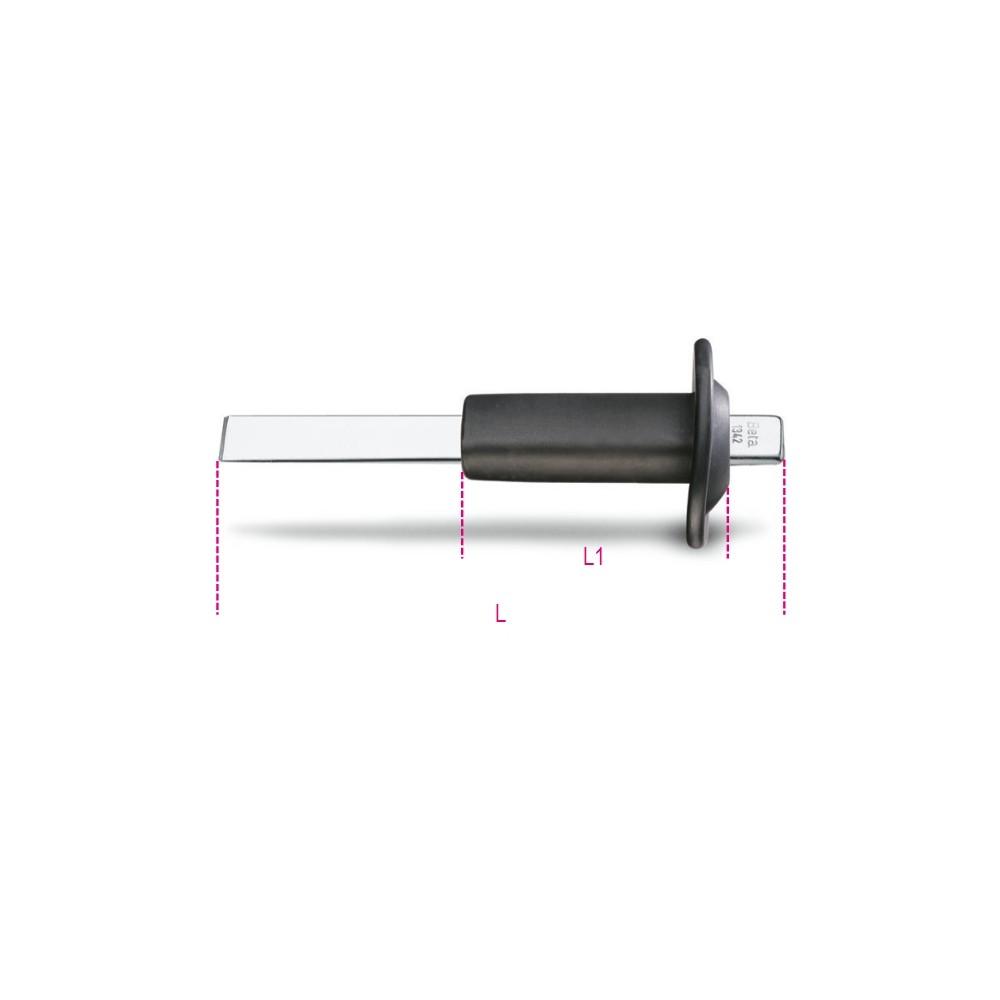 Scalpello extrapiatto con tagliente diritto con paramano - Beta 1342PM