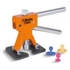 Attrezzo levabolli con kit di 19 funghetti di plastica Da utilizzare con colla a caldo per superfici verniciat... - Beta 1366A