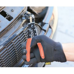 Pinza con testa orientabile per pioli in plastica con clips a pressione - Beta 1478T