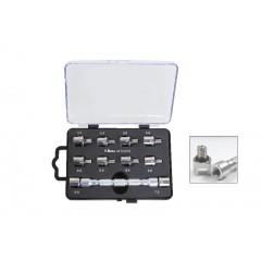 Set chiave universale a testina intercambiabile e 10 inserti, per serraggio raggi ruote - Beta 3075/K10