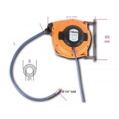 Avvolgitubo automatico corpo in materiale plastico antiurto per aria compressa o acqua fredda - Beta 1901BM/8