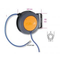 Enrouleur automatique corps en matière plastique antichoc pour l'air comprimé ou l'eau froide - Beta 1901T/10