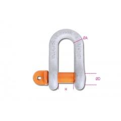 Grilli per sollevamento diritti, perno a vite, acciaio legato ad alta resistenza staffa zincata a caldo - Robur 8026R