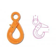 Self-locking lifting hooks, eye type, high-tensile alloy steel - Beta 8057R - 8057