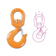 Lifting swivel hooks (in unloaded condition) high-tensile alloy steel - Beta 8063