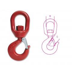 Swivel lifting hooks (not under load) carbon steel, painted - Beta 8064S