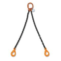 Pendenti per sollevamento catena a 2 bracci, ganci Self-Locking grado 8 - Robur 8092SL
