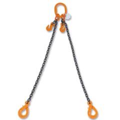 Pendenti per sollevamento con ganci Self-Locking e accorciatori catena a 2 bracci, grado 8 - Robur 8097SL