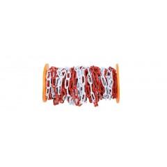 Catena di delimitazione in metallo zincata e verniciata bianca e rossa - Robur 8129