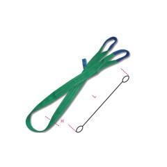 Brache per sollevamento 2t verde nastro piatto a due strati, asole rinforzate, poliestere alta tenacità (PES) - Robur 8153